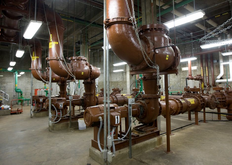 Aging motors and pumps in the nitrification room at the Water Pollution Control facility in Southington, Monday, October 17, 2016. | Dave Zajac, Record-Journal