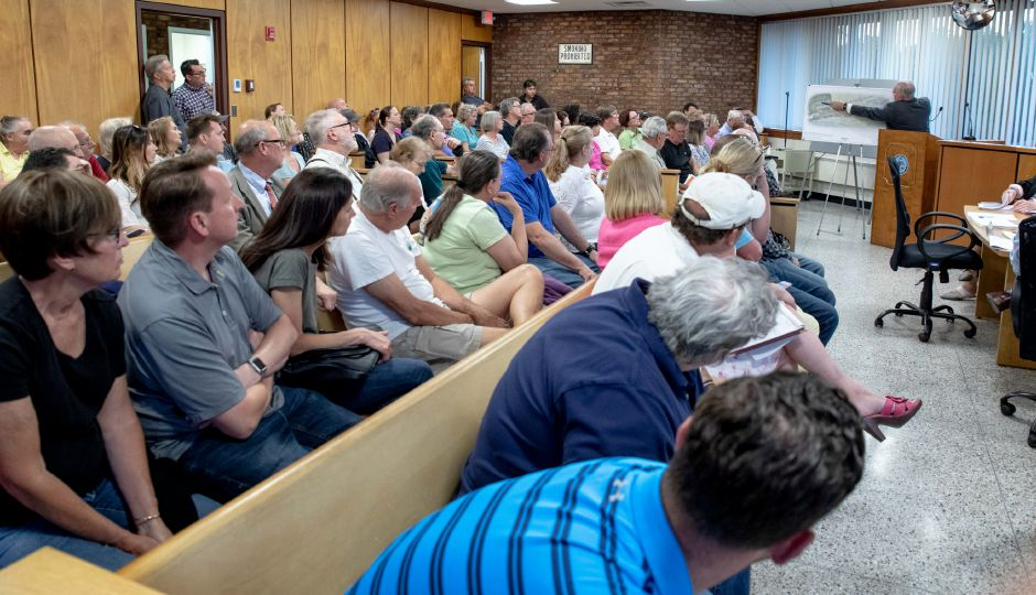 A public hearing was held on the development of a 300 plus apartment complex on Atkins Street in Berlin. The public was overwhelmingly in opposition, expressing safety concerns. | Devin Leith-Yessian/Berlin Citizen