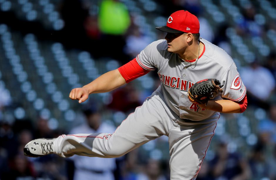 Southington native Sal Romano starts today for the Cincinnati Reds against the Washington Nationals. Romano made Cincinnati's starting rotation coming out of spring training. The right-hander spent half of 2017 with the big league club, compiling a 5-8 record and 4.45 ERA over 16 starts and 87 innings of work. | AP Photo/Tom Lynn