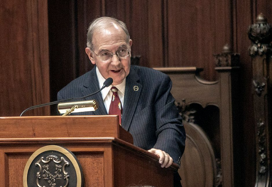 Sen. Martin M. Looney speaks during opening day of the 2019 legislative session in Hartford, Wed., Jan. 9, 2019. Dave Zajac, Record-Journal