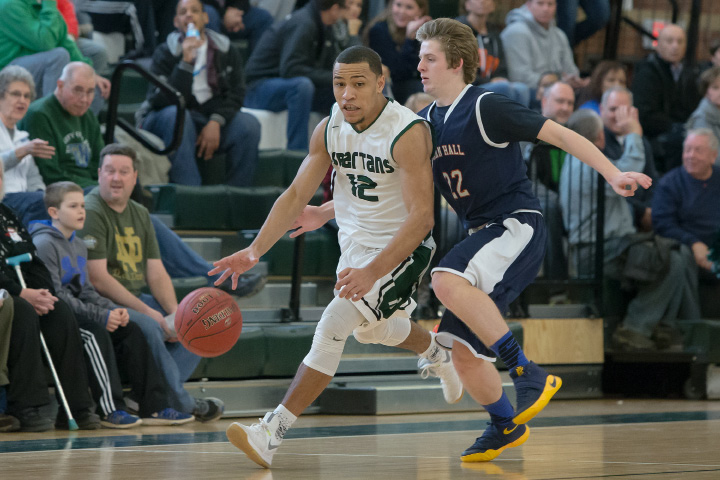 Alejandro Ortiz scored all of his 18 points in the second half Wednesday night to help Maloney beat Bristol Eastern 59-49 in a CCC South basketball game in Meriden. | Justin Weekes / For the Record-Journal