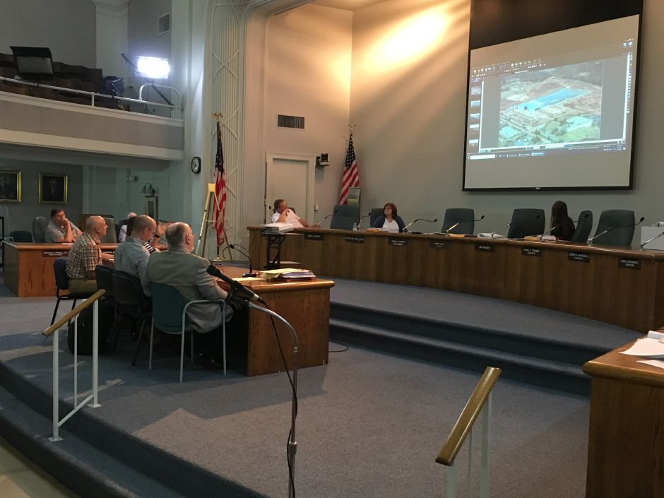 Wallingford's Inland Wetlands and Watercourses Commission continued a public hearing on the proposed redevelopment of the former Bristol-Myers Squibb site on Wednesday, Sept. 5, 2018. | Lauren Takores, Record-Journal