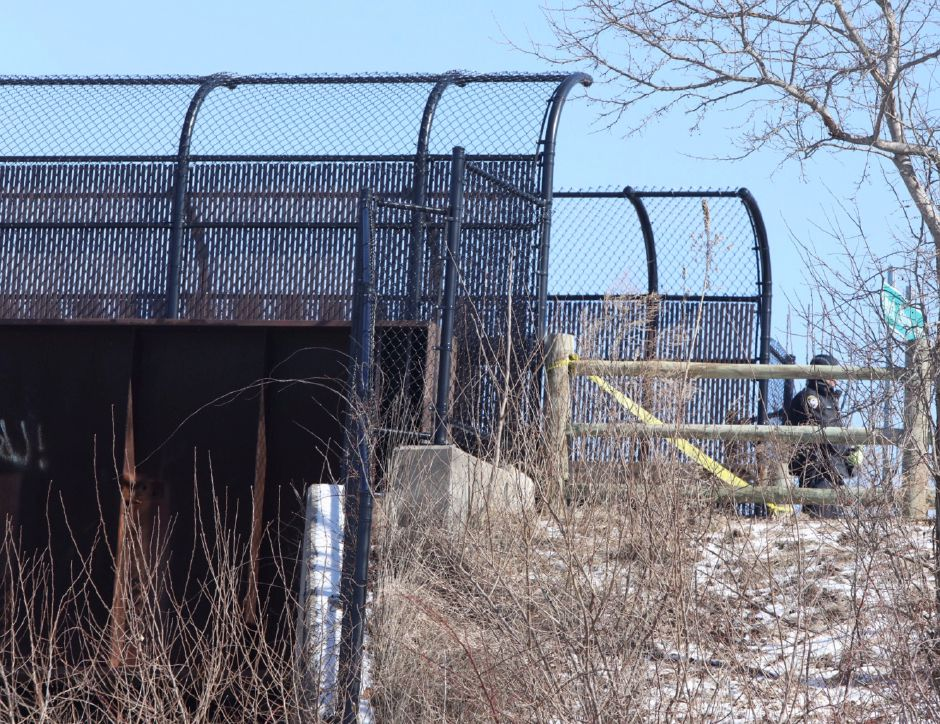 "Police investigated an ""untimely death"" on the Farmington Canal Heritage Trail near West Johnson Avenue on Tuesday. 