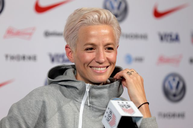 Megan Rapinoe, a member of the United States women
