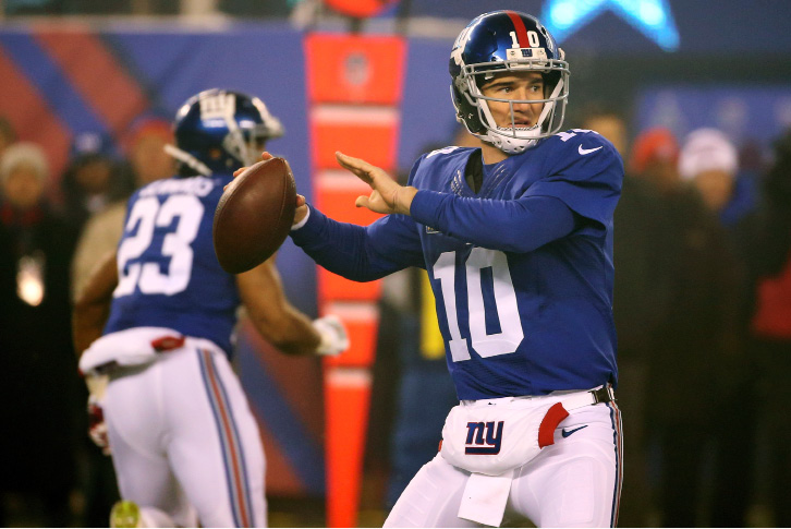 Giants quarterback Eli Manning has thrown for fewer than 200 yards in each of his past three starts and completed just 56 of 94 passes over that span. | Seth Wenig, Associated Press