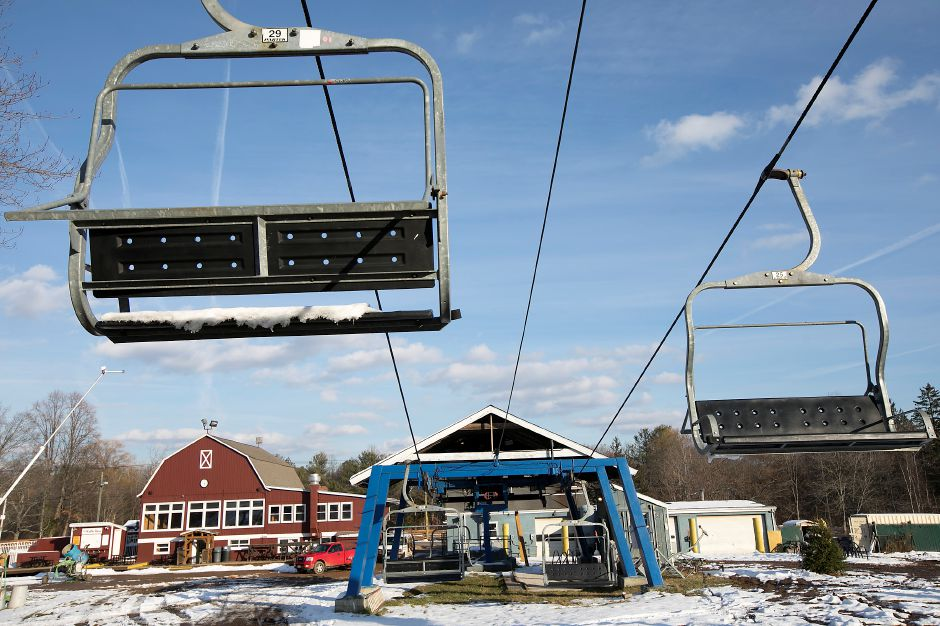 Chairlifts at Mount Southington Ski Area in Southington, Monday, Dec. 11, 2017. Mount Southington opens for the season this Saturday. Dave Zajac, Record-Journal