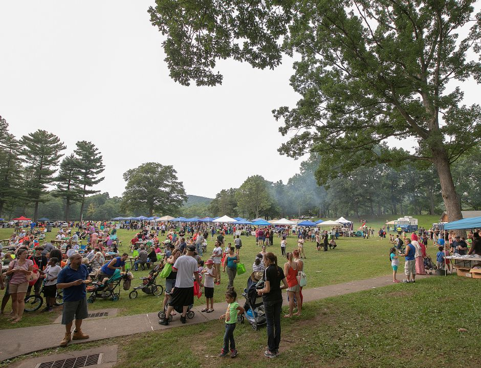 Crowds gather during the 14th annual National Night Out at Hubbard Park in Meriden, Tuesday, August 7, 2018. Dave Zajac, Record-Journal