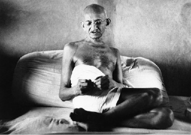 Mohandas Gandhi of All India Congress on August 22, 1942. (AP Photo)