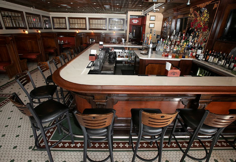 The bar at the Waverly Inn, 286 Maple Ave. Cheshire, Fri., Mar. 1, 2019. Owners of the Waverly Inn restaurant have the historic location for sale but said until they find the next owner everything is business as usual. Dave Zajac, Record-Journal