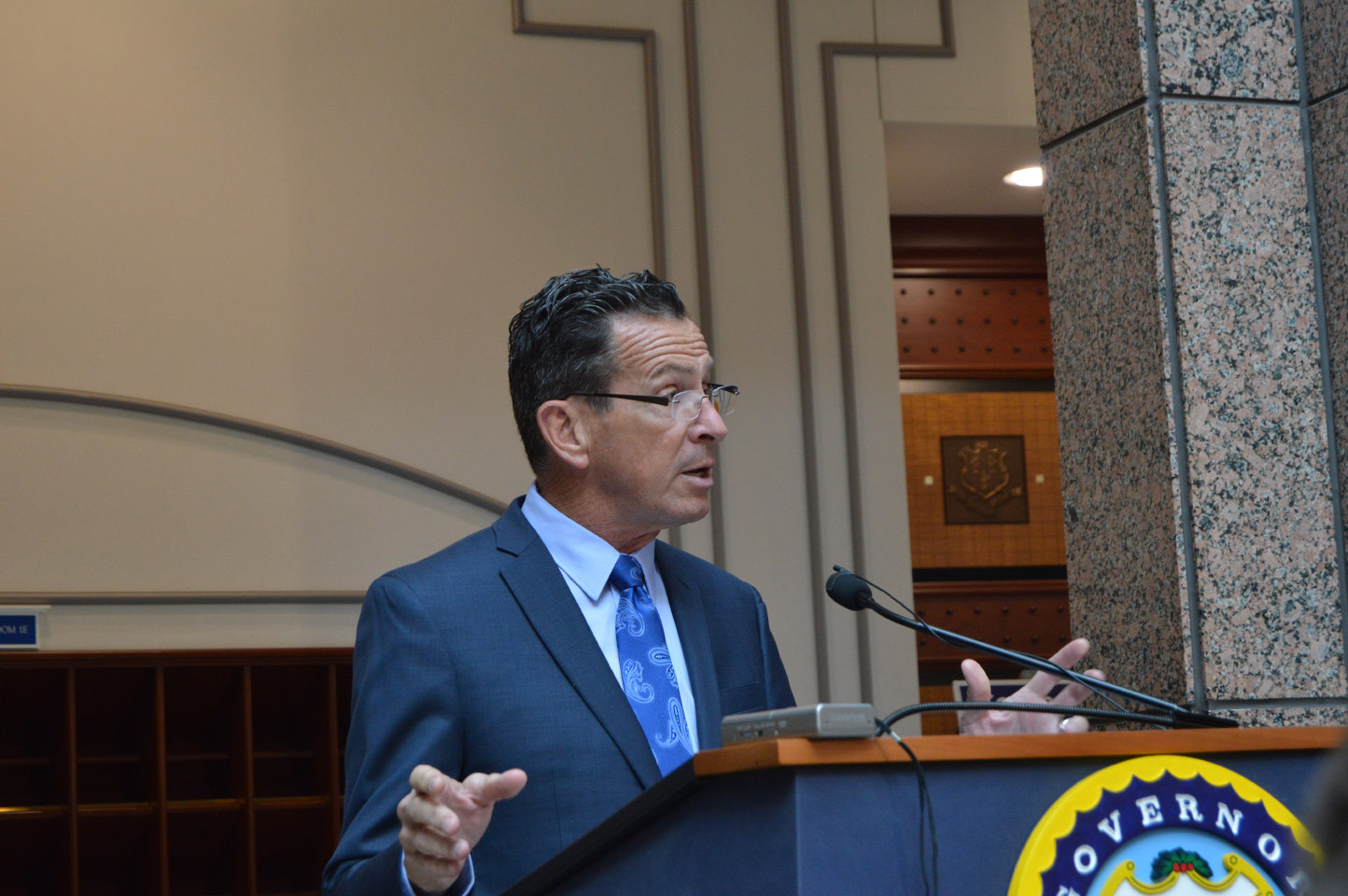 Gov. Dannel P. Malloy on Friday, May 12. | Mike Savino, Record-Journal staff