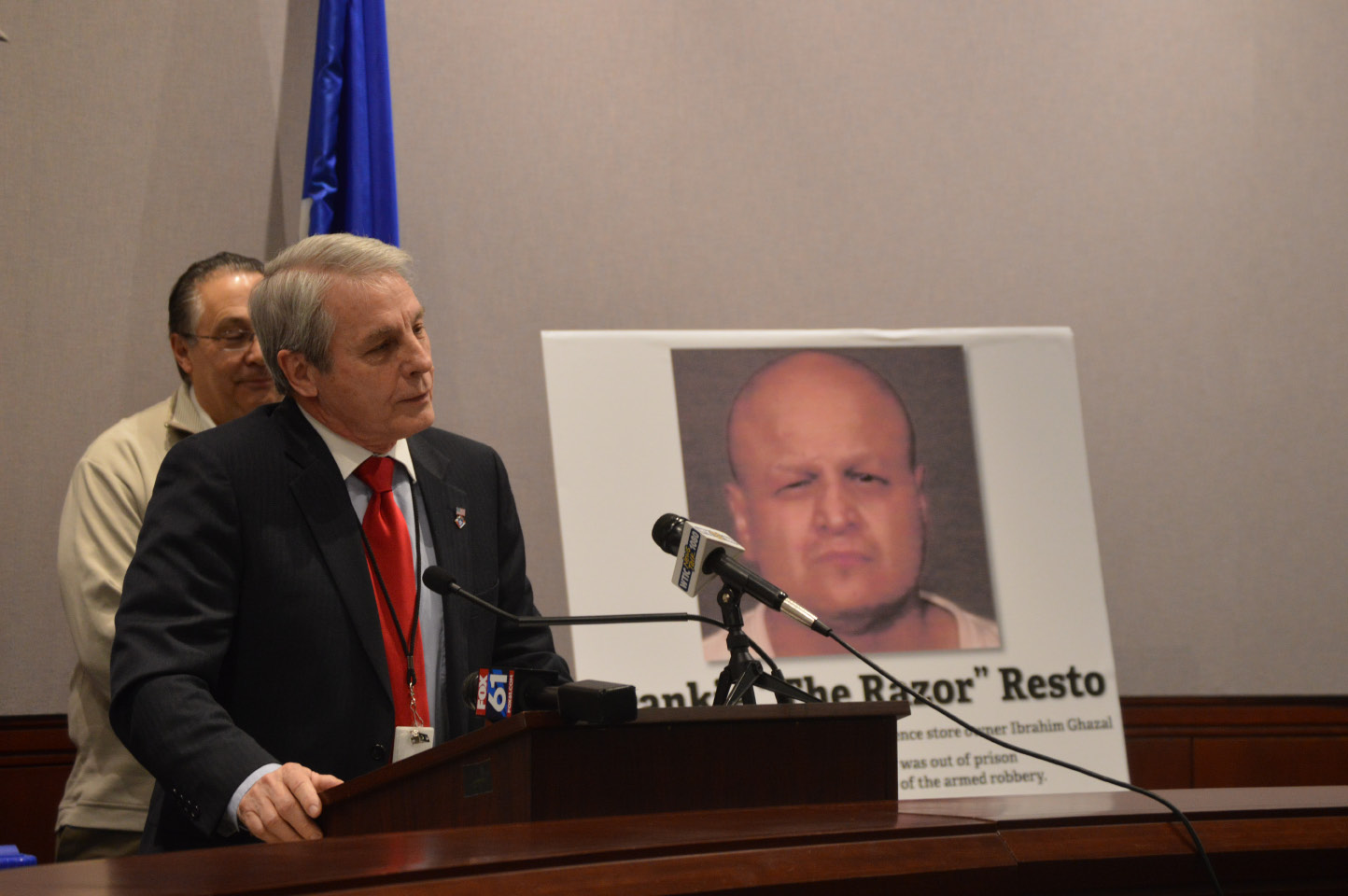 Sen. Len Suzio, R-Meriden, discusses criminal justice reform during a press conference at the Capitol on Monday, March 20, 2017. | Mike Savino, Record-Journal staff