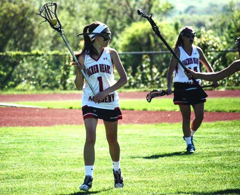 Sara Martin on the lacrosse field.