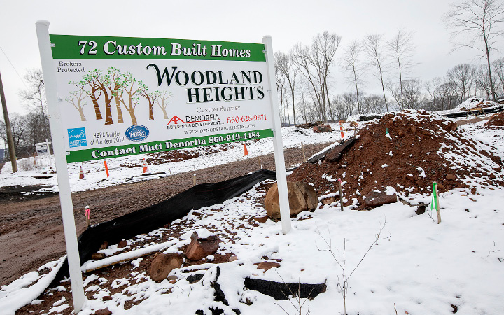 Woodland Heights, a 72-lot development under construction on Loper Street in Southington, Friday,  March 10, 2017.  | Dave Zajac, Record-Journal