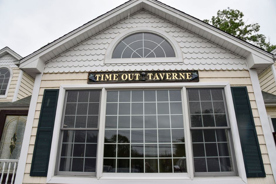 The site of 100 New Haven Rd. in Durham on May 28, 2019, formerly Time Out Taverne, which was bought and will reopen as Horseshoe Taverne later this year.