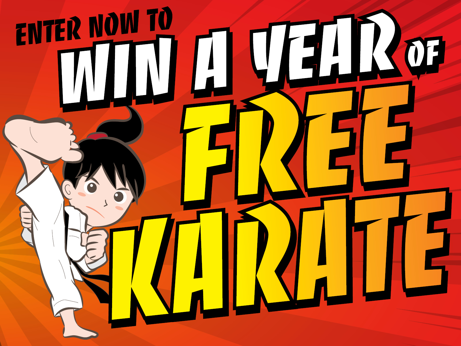 Win a YEAR of FREE KARATE!