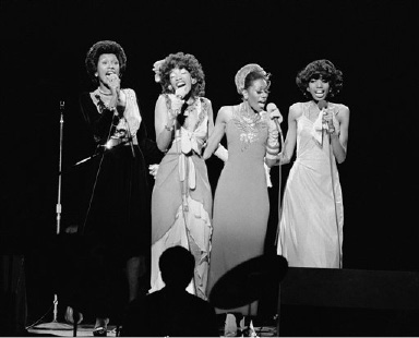 The Pointer Sisters performed at the celebrity Theater in Phoenix, Ariz., August 31, 1973 as part of a cross-country tour. From left are sisters: Ruth, Anita, Bonnie and June Pointer. (AP Photo)