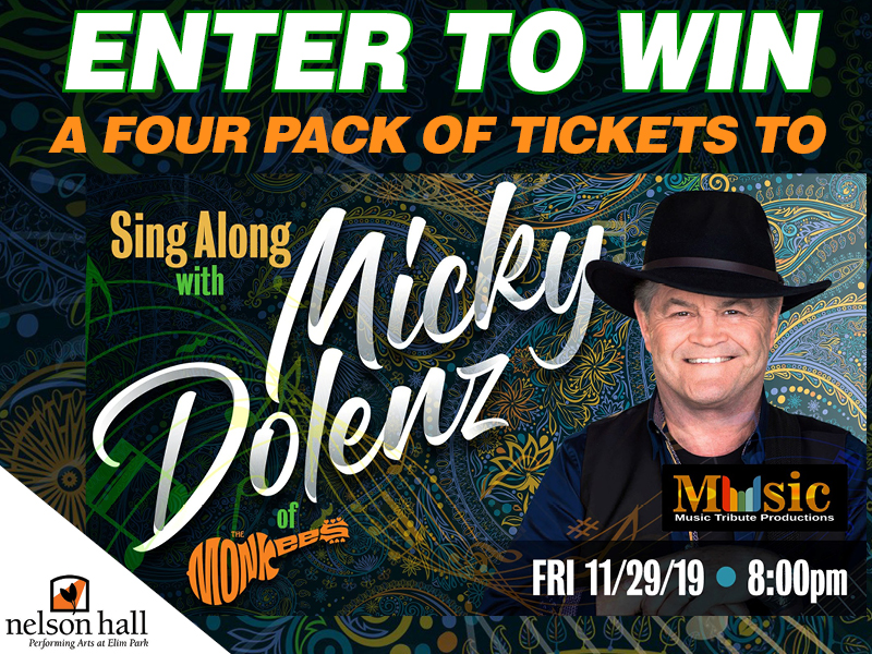 Enter to win a four pack of tickets!