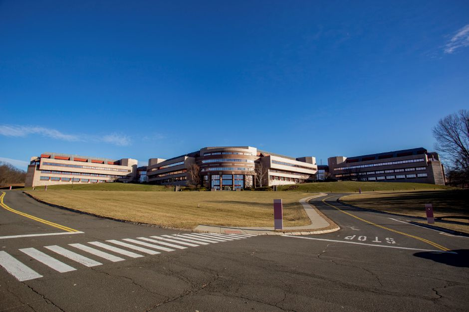 The former Bristol-Myers Squibb building on Research Parkway in Wallingford, seen in January. File photo, Record-Journal