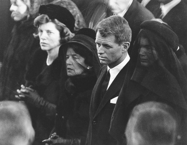 FILE - In this Nov. 25, 1963 file photo members of the Kennedy family attend U.S. President John F. Kennedy