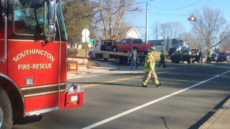 Emergency crews responded to a crash on Meriden Avenue in Southington on Tuesday. | Devin Leith-Yessian, Record-Journal