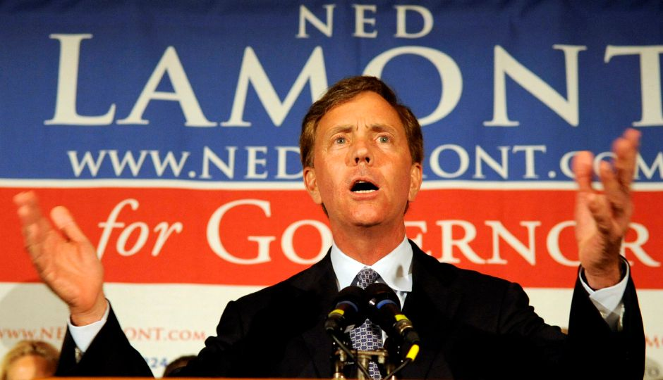 Ned Lamont speaks in Bridgeport, Conn. on Tuesday, Aug. 10, 2010, after he was defeated in the Connectictut gubentorial race by dan malloy. (AP Photo/Robert Childs)