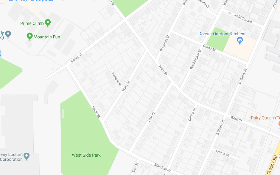 A water main break closed Valley Street in Wallingford Monday. | Google Maps