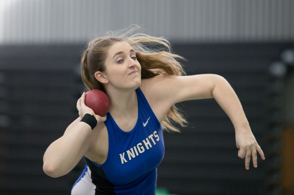 A week after having to settle for second in Class LL despite matching the best throw, Southington senior shot-putter Amanda Howe stood alone Saturday at the State Open at the Floyd Little Athletic Center in New Haven. | Justin Weekes / Special to the Record-Journal