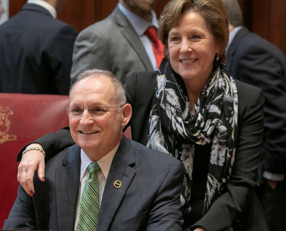Senator Henri Martin and wife Roxanne during opening day of the legislative session Jan. 9, 2019. | Dave Zajac, Record-Journal