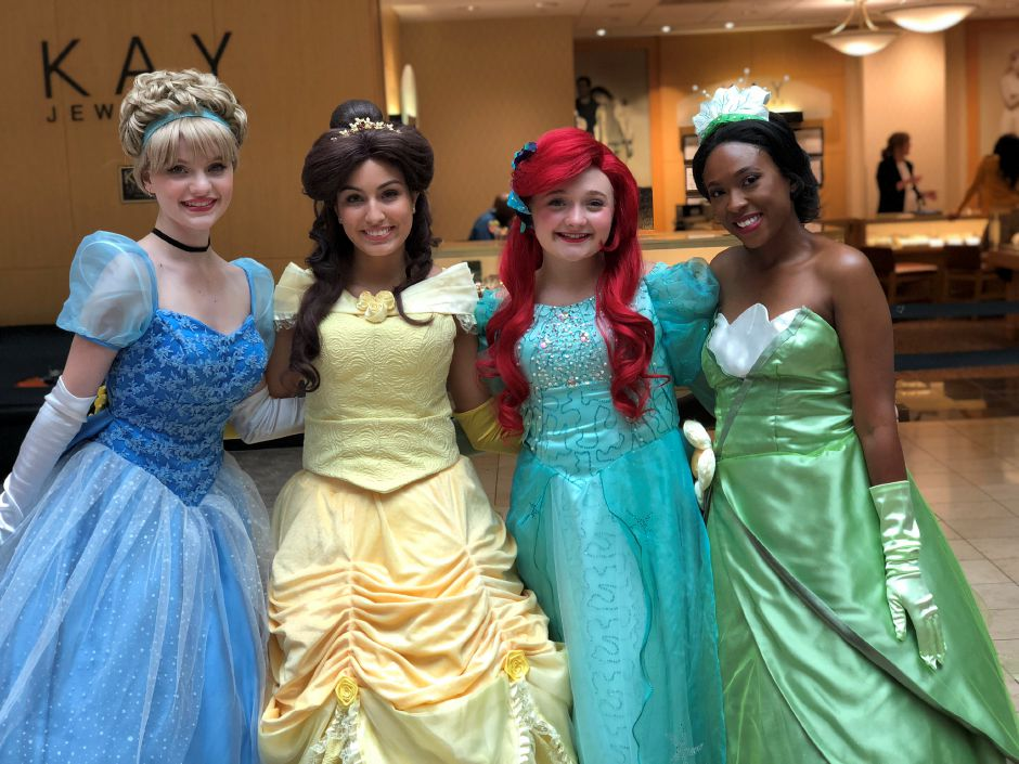 Princess characters at a Face Candy Art and Entertainment event. |Courtesy of Jenna Morin