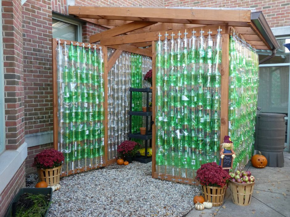 Linden's new eco-friendly greenhouse.