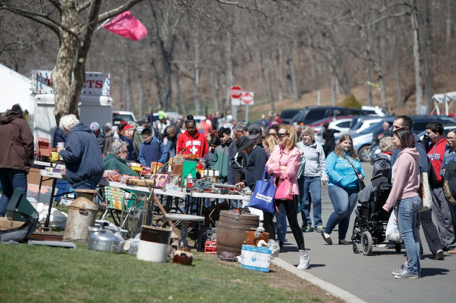 Crowds filled the park Saturday during the pre-Daffodil Festival weekend at Hubbard Park in Meriden. Today's Meriden Rotary 5K Road Race, Kids Fun Run & Walk begins at 10 a.m.