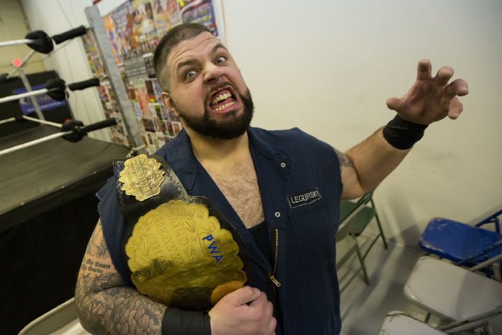 "Spencer Charette of Southington, performing as ""Wrecking Ball Legorsky,"" is on the card for Friday's Wrestlefest XXI at Crosby High School in Waterbury. The event is headlined by WWE personalities Kurt Angle and Cody Rhodes.  
