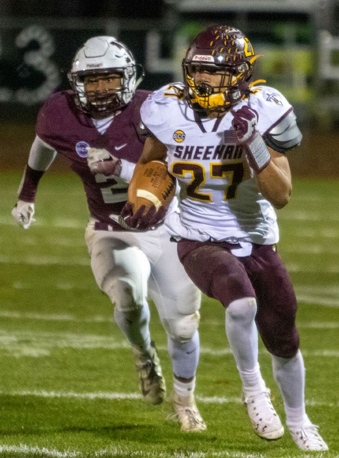 Jordan Davis and the Sheehan Titans will look to rebound from last week's 28-14 loss in North Haven when they take on Cheshire this Friday at Alumni Field. It's a matchup of 6-1 SCC Tier 2 teams. | Aaron Flaum, Record-Journal