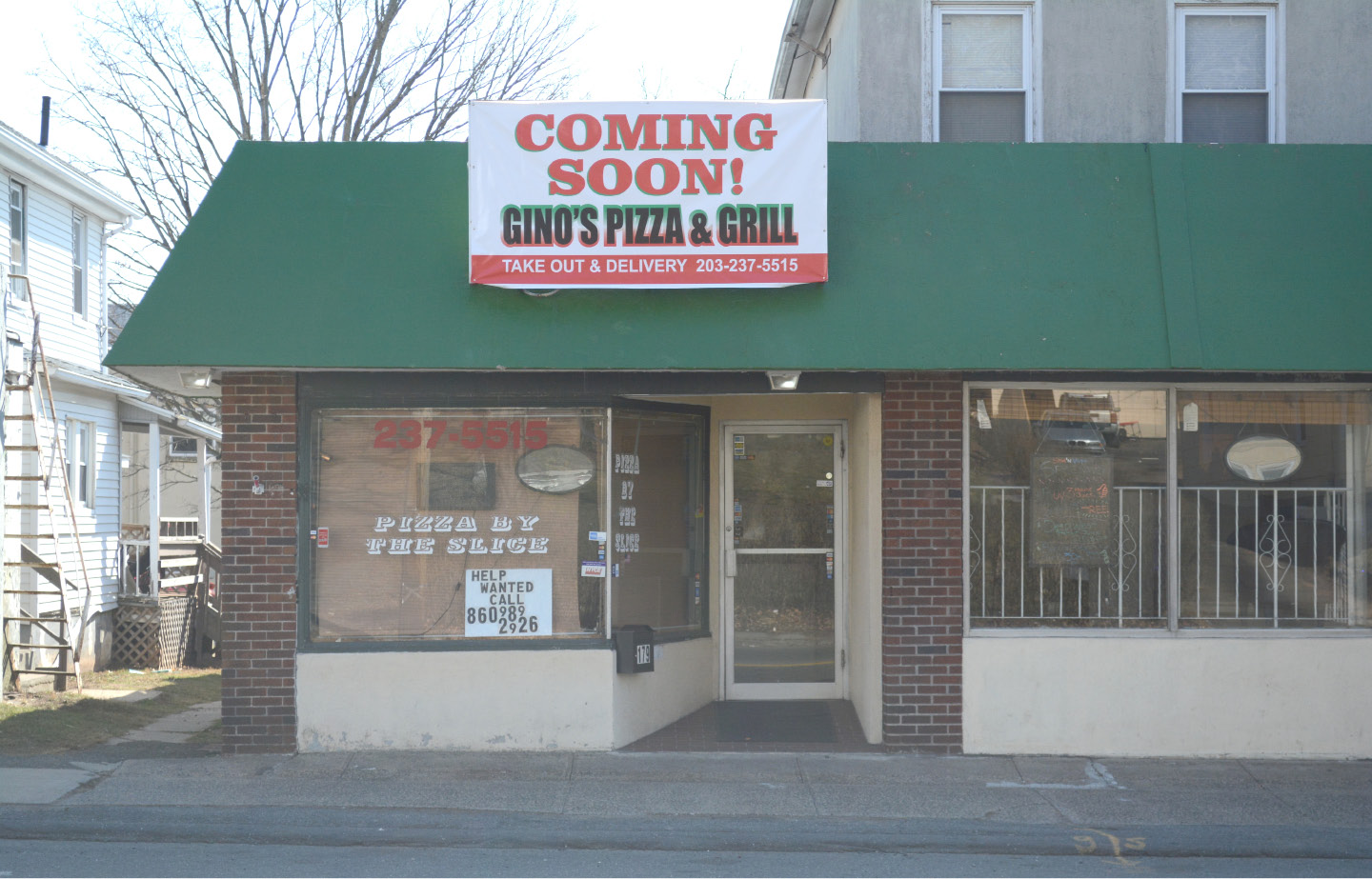The future Gino's Pizza & Grill, at 177 Broad St., Meriden. | Bryan Lipiner, Record-Journal