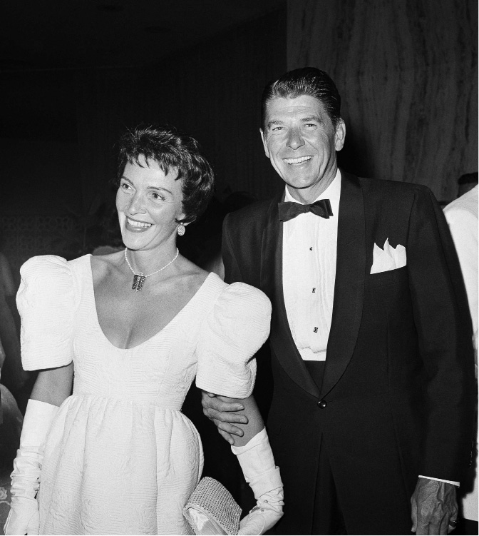 Ronald Reagan and his wife Nancy are shown July 16, 1959 at a Hollywood movie premiere, Los Angeles. (AP Photo)