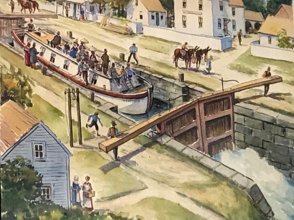 The Canal Room at Plainville Historic Center on Pierce Street gives a long history of the Farmington Canal in Plainville. Ashley Kus, Record-Journal