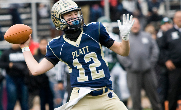 Junior A.J. Marinelli threw for 1,669 yards and 22 yards in his first full year as starting quarterback for Platt.  | Dave Zajac, Record-Journal