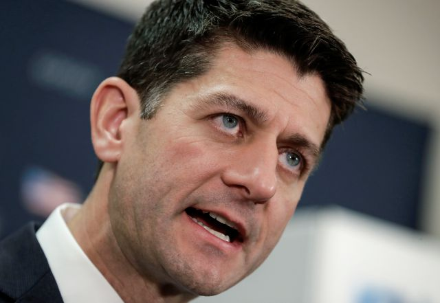 "Speaker of the House Paul Ryan, R-Wis., speaks during a news conference on Capitol Hill in Washington, Tuesday, Nov. 14, 2017. Ryan says Alabama Senate candidate Roy Moore ""should step aside."" Ryan says allegations against Moore ""are credible."" (AP Photo/J. Scott Applewhite)"
