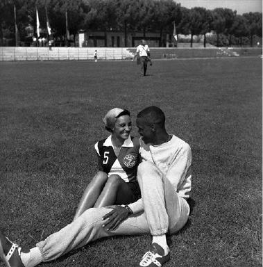 US athletes relax after training on August 29, 1960 at the Summer Olympic Games in Rome, Italy. (AP Photo)