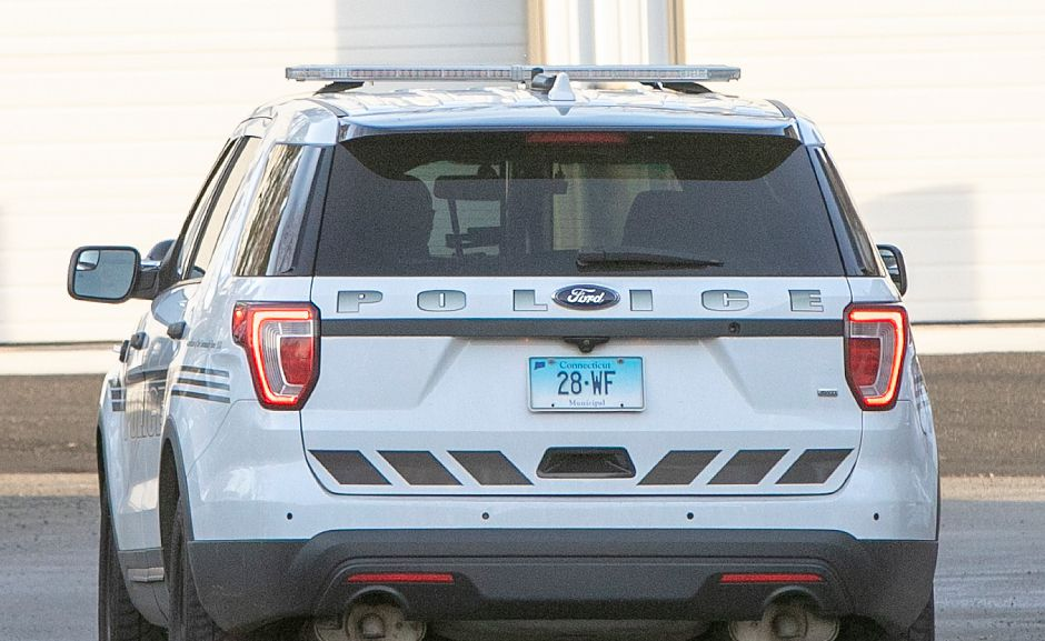 A Wallingford police vehicle at the Wallingford Police Dept., Mon., Jan. 7, 2019. Chief Wright requested a bid waiver to purchase an automatic license plate reader, which the town council is slated to consider Tuesday. Dave Zajac, Record-Journal