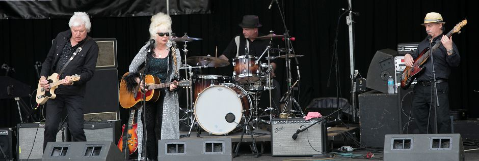 Christine Ohlman & Rebel Montez perform at the band shell during the 39th annual Daffodil Festival at Hubbard Park in Meriden, Saturday, April 29, 2017. | Dave Zajac, Record-Journal