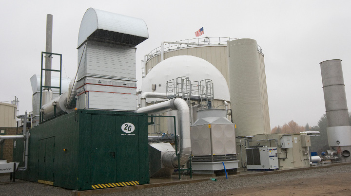 Quantum Biopower's food waste-to-energy plant on DePaolo Drive in Southington.  | Dave Zajac, Record-Journal