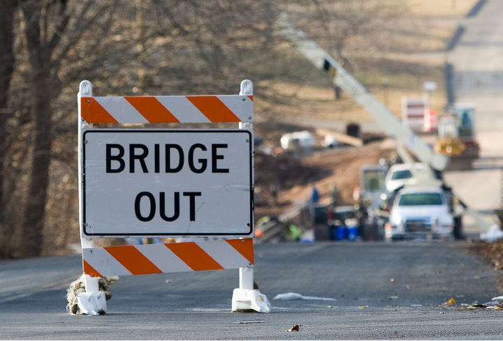 Work continues on the East Johnson Avenue bridge in Cheshire, Wednesday, December 14, 2016. The bridge will likely be open to traffic late next week.  | Dave Zajac, Record-Journal