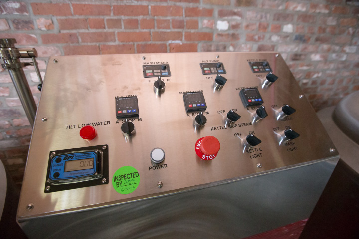 Controls at  Witchdoctor Brewing Company in Southington on Wednesday, Dec. 28, 2016. The company expects to be brewing beer by the end of January.  | Justin Weekes / For the Record-Journal