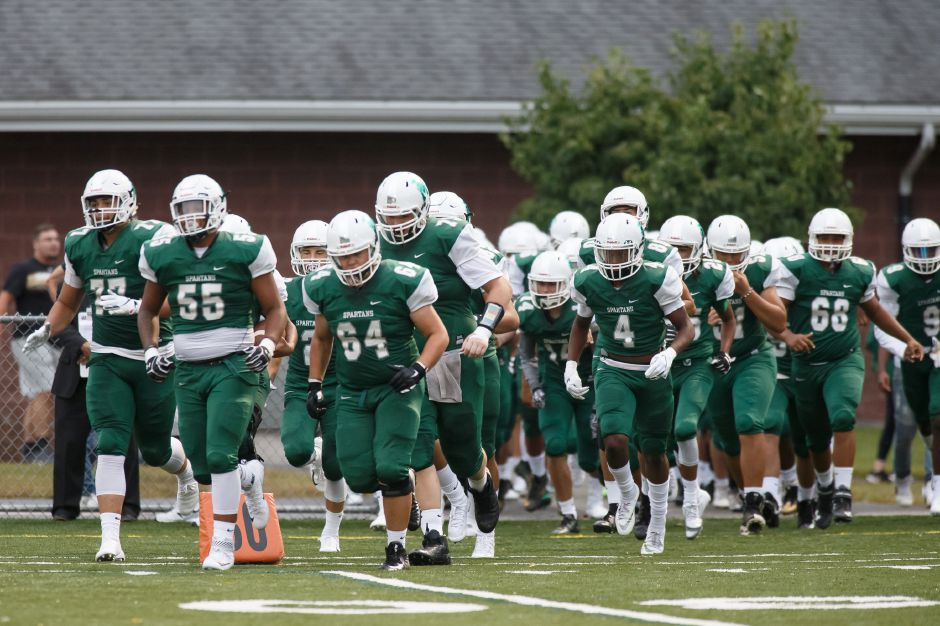 The Maloney Spartans take on defending champ and top seed Daniel Hand for the CIAC Class L football crown Saturday at New Britain's Veterans Stadium at 2 p.m. | Justin Weekes / Special to the Record-Journal