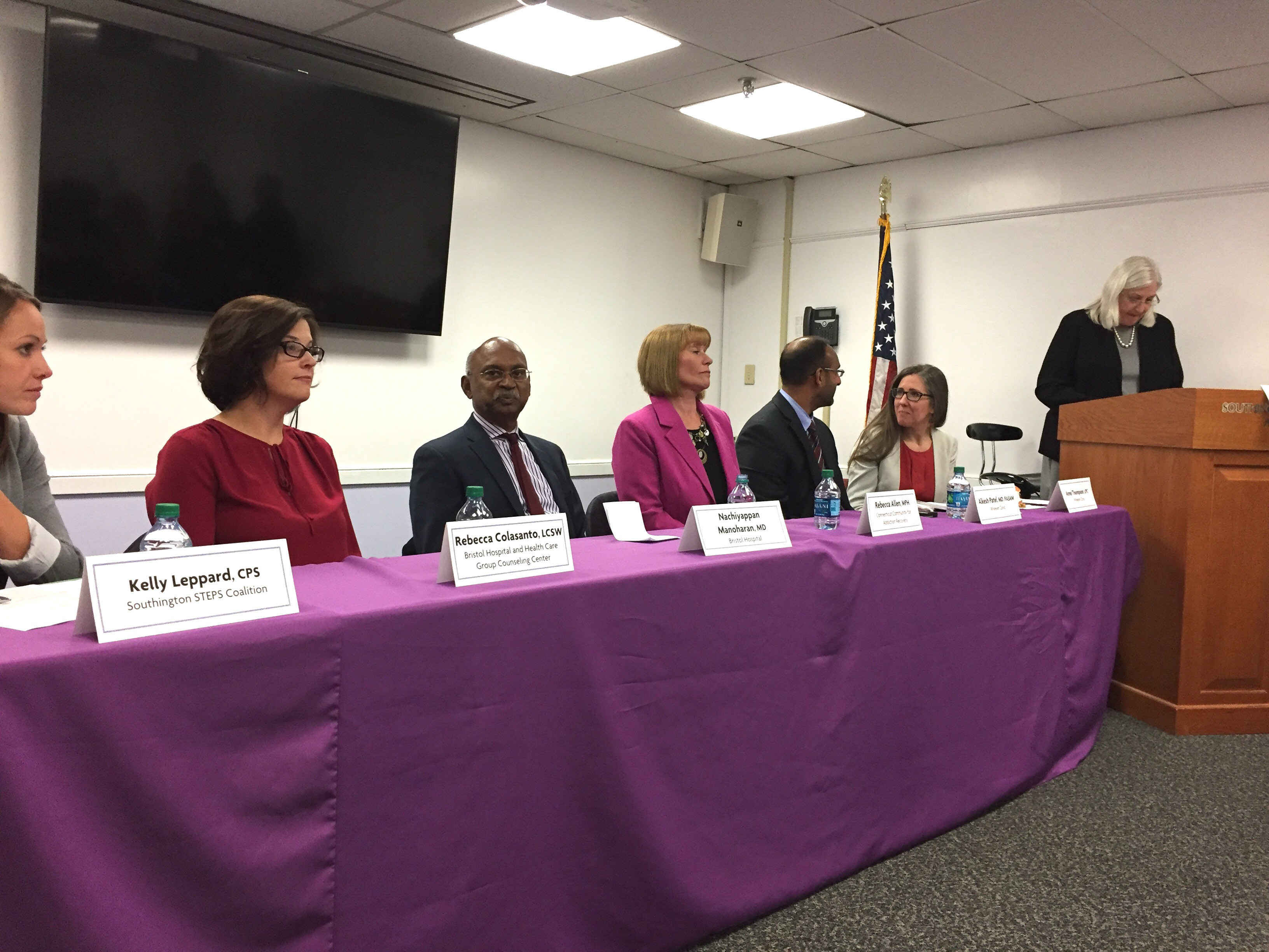 A panel discussed addiction at Southington library, Wednesday, Oct. 26. | Ashley Kus, The Plainville Citizen