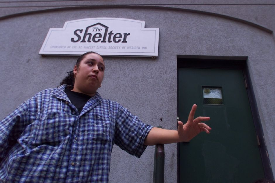 Annette Sanchez, a 3rd floor supervisor at The Shelter sponsored by the St. Vincent DePaul Society of Meriden, Inc. is not worried about herself being out of a job, but is more concerned with what will happen to the residents of The Shelter JUly 26, 1999