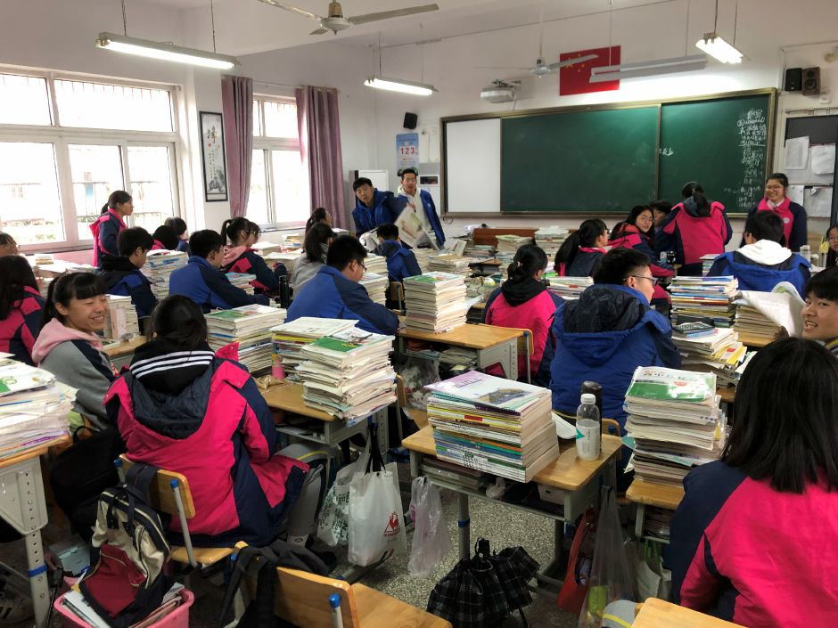A classroom at Tongji High School in Ningbo, China. Regional School District 13 expects to begin a partnership with the school this fall with Tongji High School students visiting Coginchaug Regional High School. | Photo Courtesy Brian Falcone