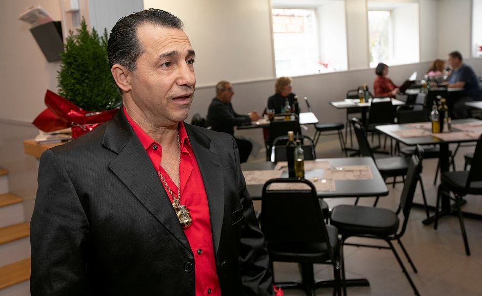 Owner Luigi Camputaro talks about his new Mamma Mia Restaurant at 1765 Meriden-Waterbury Tpke. in Southington, Fri., Nov. 30, 2018. Dave Zajac, Record-Journal