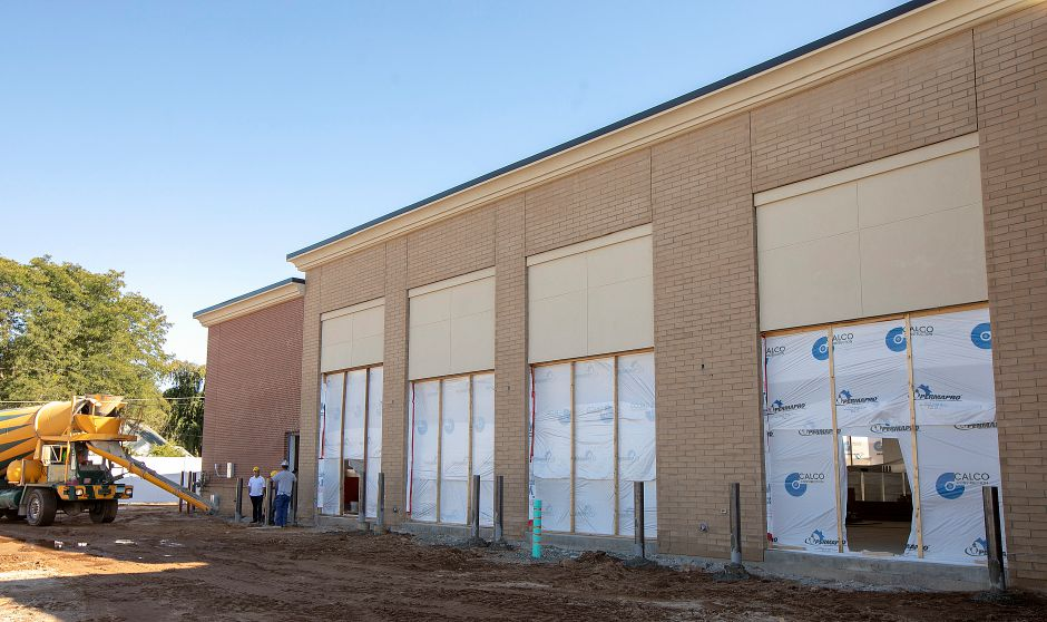 Construction continues on a Queen Street AAA center scheduled to open in December, Friday, Oct. 5, 2018. The center will be among a number of state Department of Motor Vehicles express locations. Dave Zajac, Record-Journal
